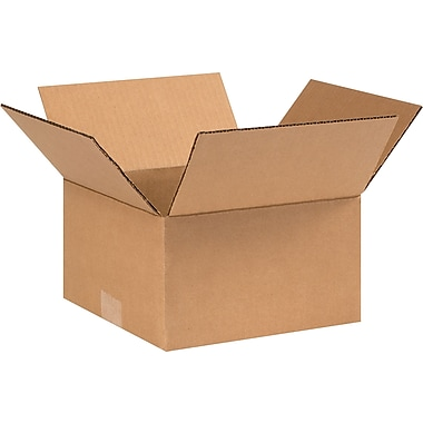 09in.(L) x 9in.(W) x 5in.(H) - Staples® Corrugated Shipping Boxes, 25/Bundle