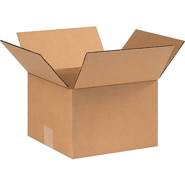9in.(L) x 9in.(W) x 6in.(H) - Staples Corrugated Shipping Boxes, 25/Bundle