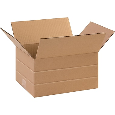 24in.(L) x 12in.(W) x 6in.(H)- Staples® Multi-Depth Corrugated Shipping Boxes, 20/Bundle