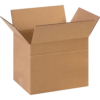 11-3/4in.(L) x 8-3/4in.(W) x 8-3/4in.(H)- Staples Multi-Depth Corrugated Shipping Boxes, 25/Bundle