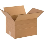12in.(L) x 10in.(W) x 8in.(H)- Staples Multi-Depth Corrugated Shipping Boxes, 25/Bundle