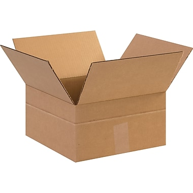 12in.(L) x 12in.(W) x 6in.(H)- Staples Multi-Depth Corrugated Shipping Boxes, 25/Bundle
