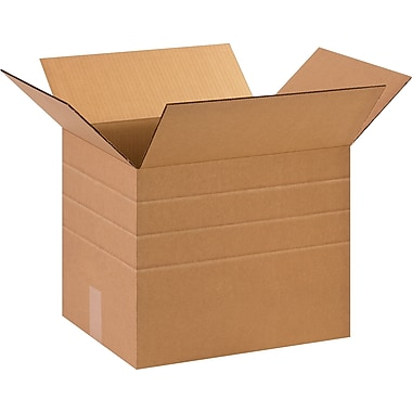 10in.(L) x 10in.(W) x 12in.(H)- Staples® Multi-Depth Corrugated Shipping Boxes, 25/Bundle