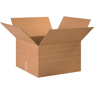 26in.(L) x 20in.(W) x 12in.(H)- Staples® Multi-Depth Corrugated Shipping Boxes, 10/Bundle