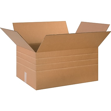 26in.(L) x 18in.(W) x 16in.(H)- Staples® Multi-Depth Corrugated Shipping Boxes, 10/Bundle