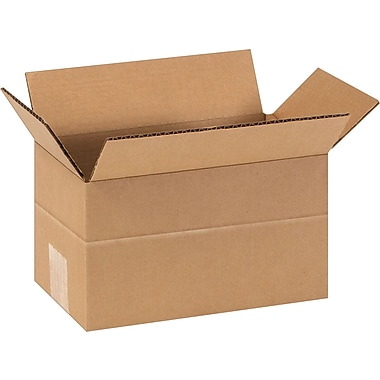 9in.(L) x 5in.(W) x 5in.(H)- Staples Multi-Depth Corrugated Shipping Boxes, 25/Bundle