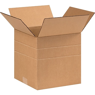 9in.(L) x 9in.(W) x 9in.(H)- Staples Multi-Depth Corrugated Shipping Boxes