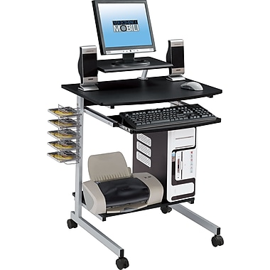 TechniMobili Space Saving Computer Desk, Graphite
