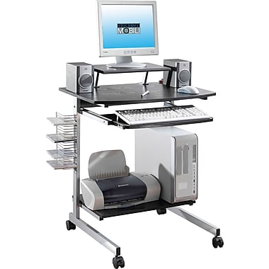 TechniMobili Space Saving Computer Desk, Espresso