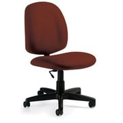 Global Custom Medium Back Armless Task Chair, Russet