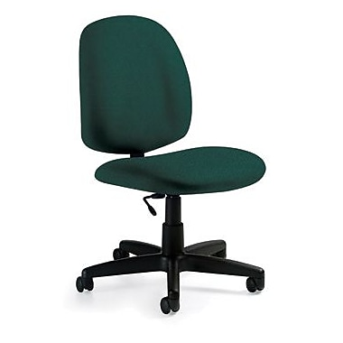 Global Custom Medium Back Armless Task Chair, Teal