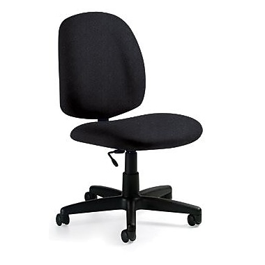 Global Custom Medium Back Armless Task Chair, Black