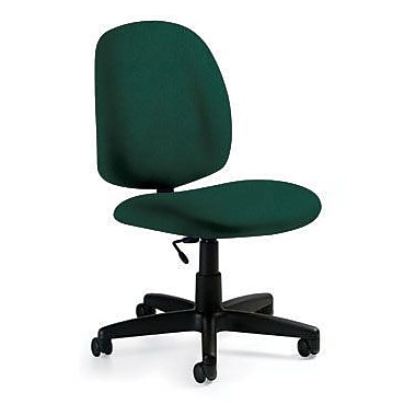 Global Custom Medium Back Armless Task Chair, Hunter