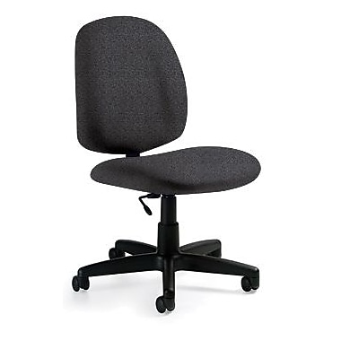 Global Custom Medium Back Armless Task Chair, Grey