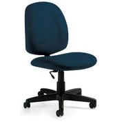 Global Custom Medium Back Armless Task Chair, Navy
