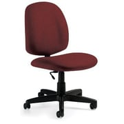 Global Custom Medium Back Armless Task Chair, Burgundy