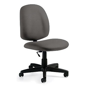 Global Custom Medium Back Armless Task Chair, Slate