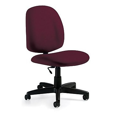 Global Custom Medium Back Armless Task Chair, Vermillion