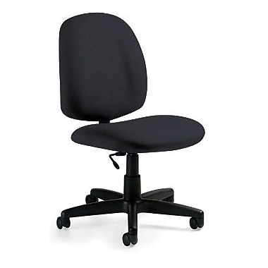 Global Custom Medium Back Armless Task Chair, Charcoal