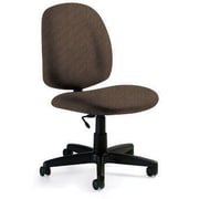 Global Custom Medium Back Armless Task Chair, Clay