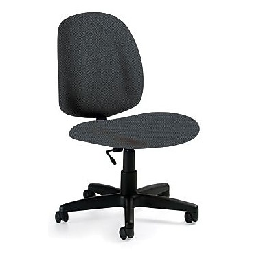 Global Custom Medium Back Armless Task Chair, Stone