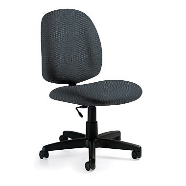 Global Custom Medium Back Armless Task Chair, Marine