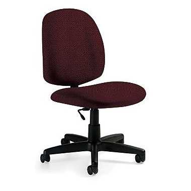 Global Custom Medium Back Armless Task Chair, Rhapsody