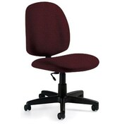 Global Custom Medium Back Armless Task Chair, Rhapsody