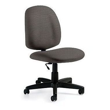 Global Custom Med Back Armless Task Chair, Pewter