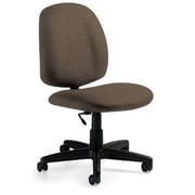 Global Custom Medium Back Armless Task Chair, Cork