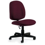 Global Custom Med Back Armless Task Chair, Cherry