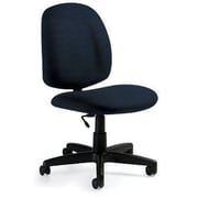 Global Custom Med Back Armless Task Chair, Volcanic Ash