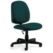 Global Custom Med Back Armless Task Chair, Blue Grass