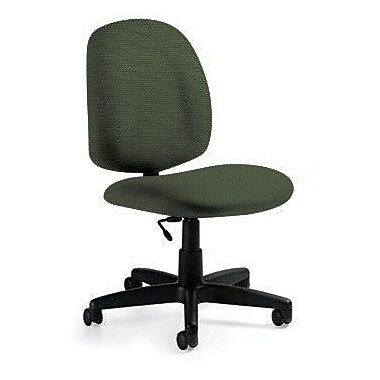 Global Custom Med Back Armless Task Chair, Leaf