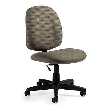 Global Custom Med Back Armless Task Chair, Melon