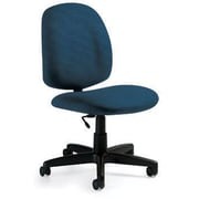 Global Custom Med Back Armless Task Chair, Blueberry
