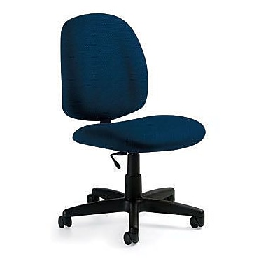 Global Custom Med Back Armless Task Chair, Blue Bayou