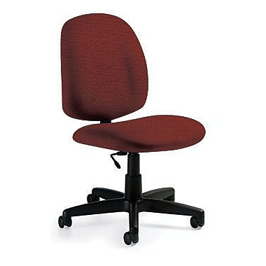 Global Custom Med Back Armless Task Chair, Tomato