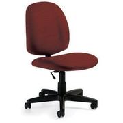 Global Custom Med Back Armless Task Chair, Tomato