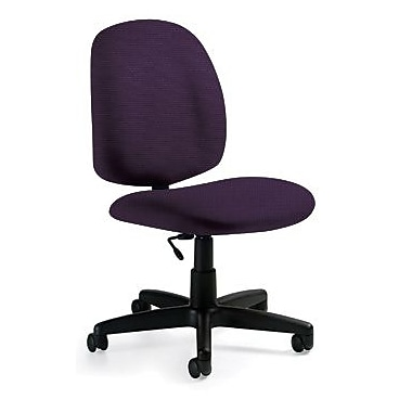 Global Custom Med Back Armless Task Chair, Amethyst