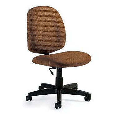Global Custom Med Back Armless Task Chair, Ochre
