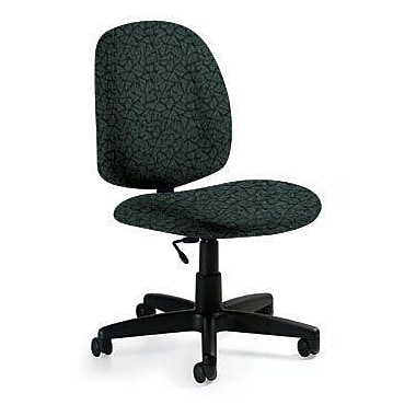 Global Custom Med Back Armless Task Chair, Lagoon