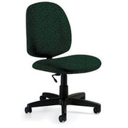 Global Custom Med Back Armless Task Chair, Cypress