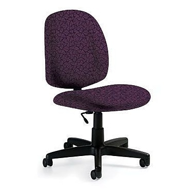 Global Custom Med Back Armless Task Chair, Tempest