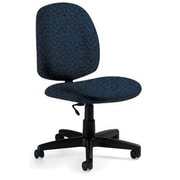 Global Custom Med Back Armless Task Chair, Artic