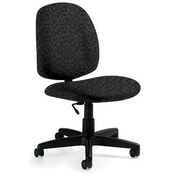 Global Custom Med Back Armless Task Chair, Carbon