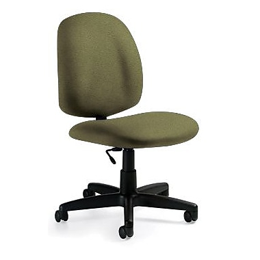Global Custom Med Back Armless Task Chair, Verdant