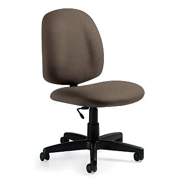 Global Custom Med Back Armless Task Chair, Camel