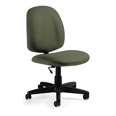 Global Custom Med Back Armless Task Chair, Jade