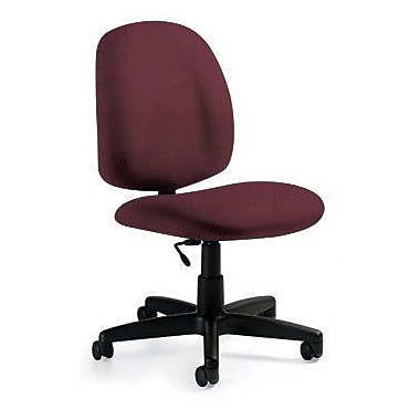 Global Custom Med Back Armless Task Chair, Claret